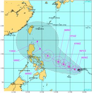 台風6号米軍進路予想-493x500